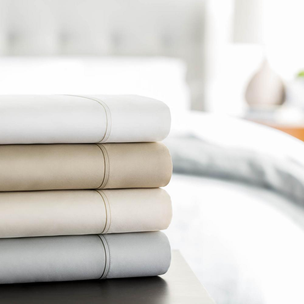 Lucid 5 Piece White 600 Thread Count Cotton Blend Split King Sheet
