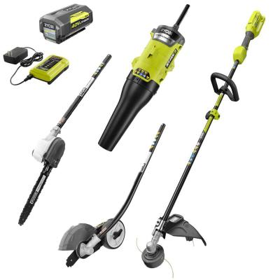 40-Volt X Lithium-Ion Expand-It Kit with String Trimmer/Edger/Pole Saw/Blower, 4.0 Ah Battery and Charger Included