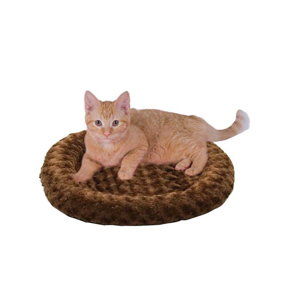 Thermo-Kitty Fashion Splash Small Mocha Heated Cat Bed