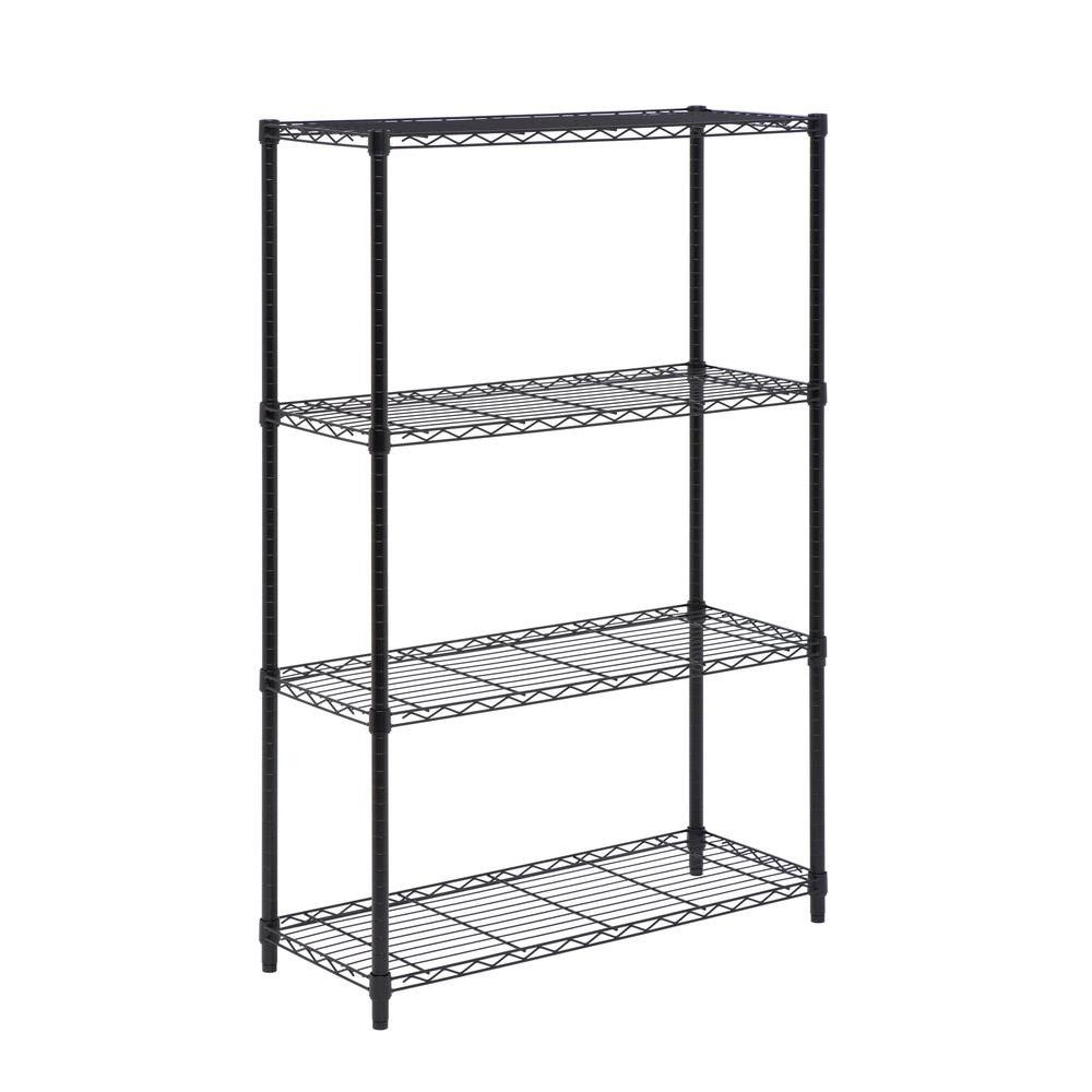 Honey-Can-Do 4-Tier Adjustable Shelving Unit with 250-lb Shelf Capacity