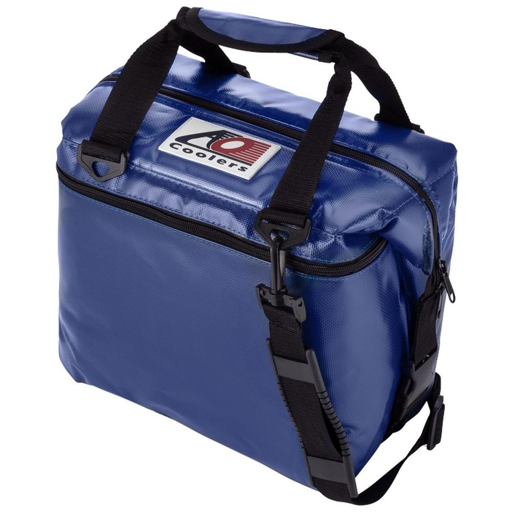 12 qt. Soft Vinyl Cooler with Shoulder Strap and Wide Outside