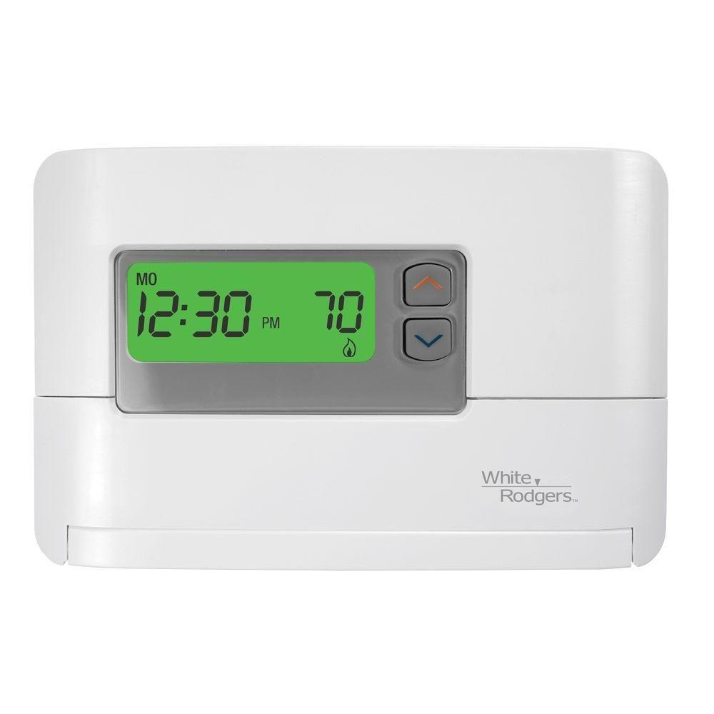 White Rodgers P200 5-1-1-Day Single Stage Programmable Thermostat