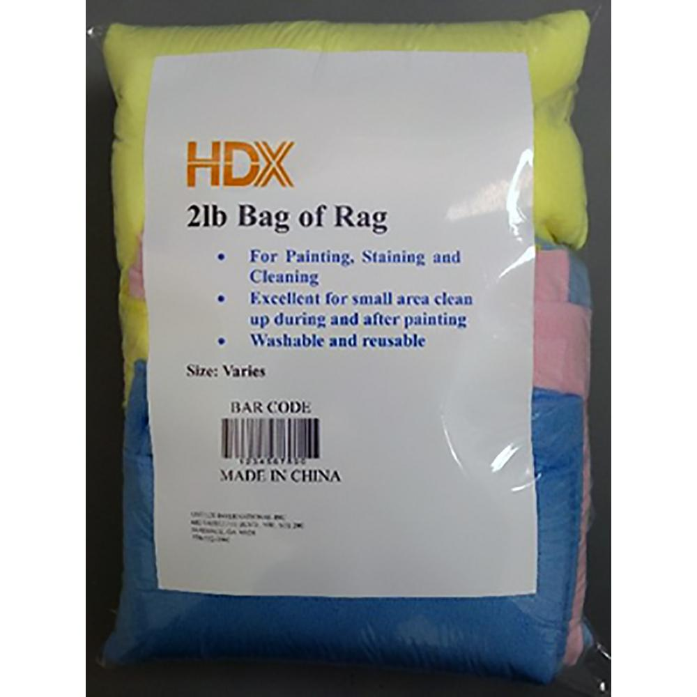 2 lbs. Microfiber Bag of Rags - Size Varies