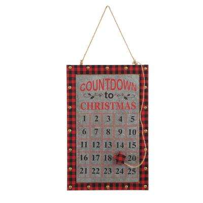 18 in. H Wooden/Gavalized Count Down Wall Decor