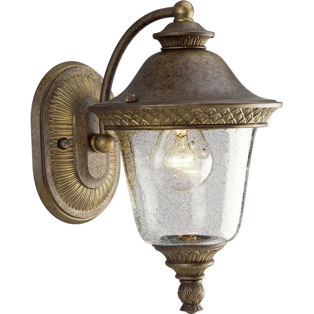 Progress Lighting Savannah Collection Burnished Chestnut 1-light Wall Lantern