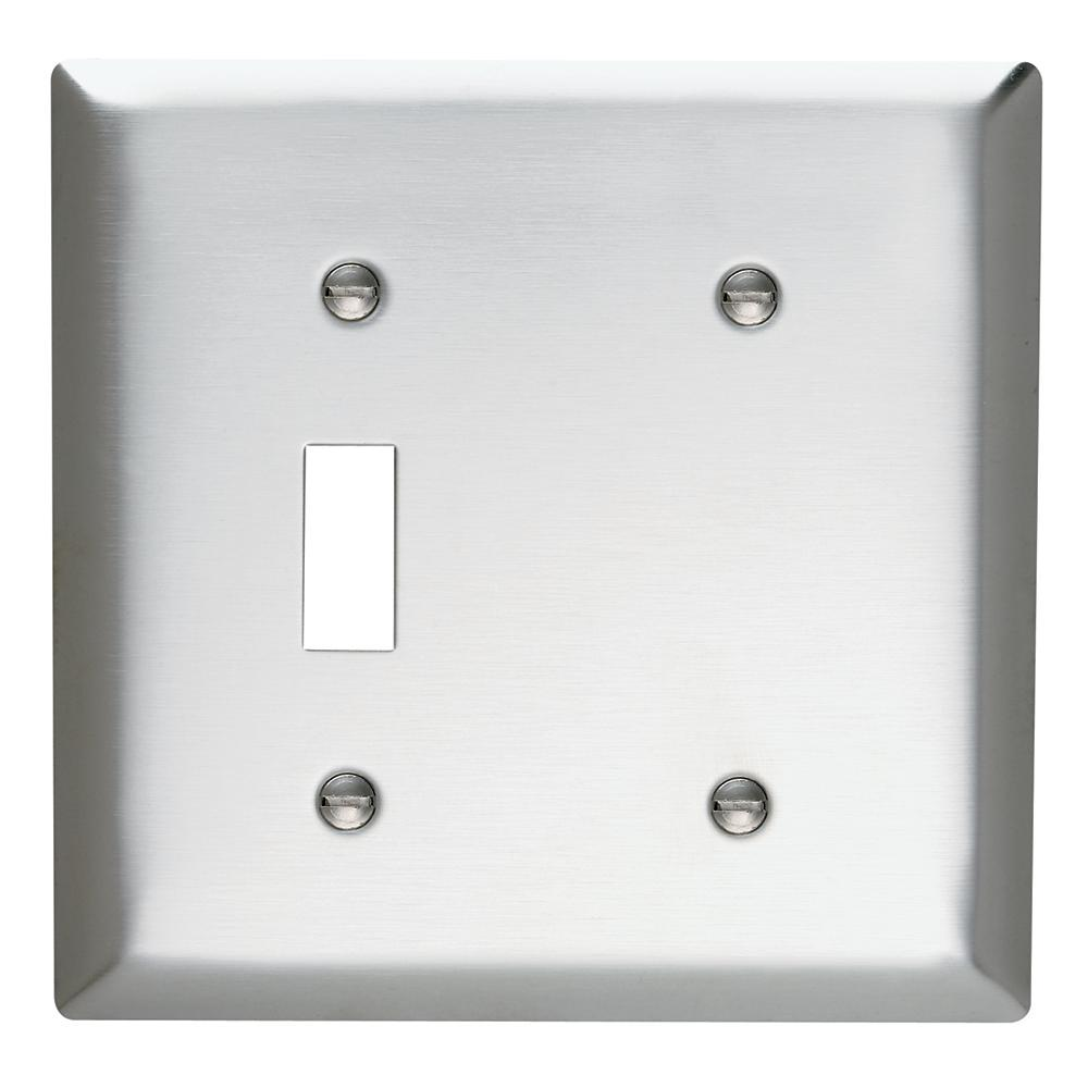 Blank Switch Plate Extraordinary 302 Series 2Gang Toggleblank Wall Plate In Stainless Steelss114 Design Ideas
