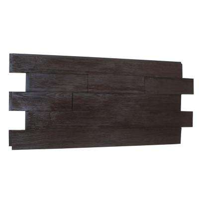 Raised Grain Faux Transitional Panel 1-1/4 in. x 48 in. x 23 in. Double Espresso Polyurethane Interlocking Panel