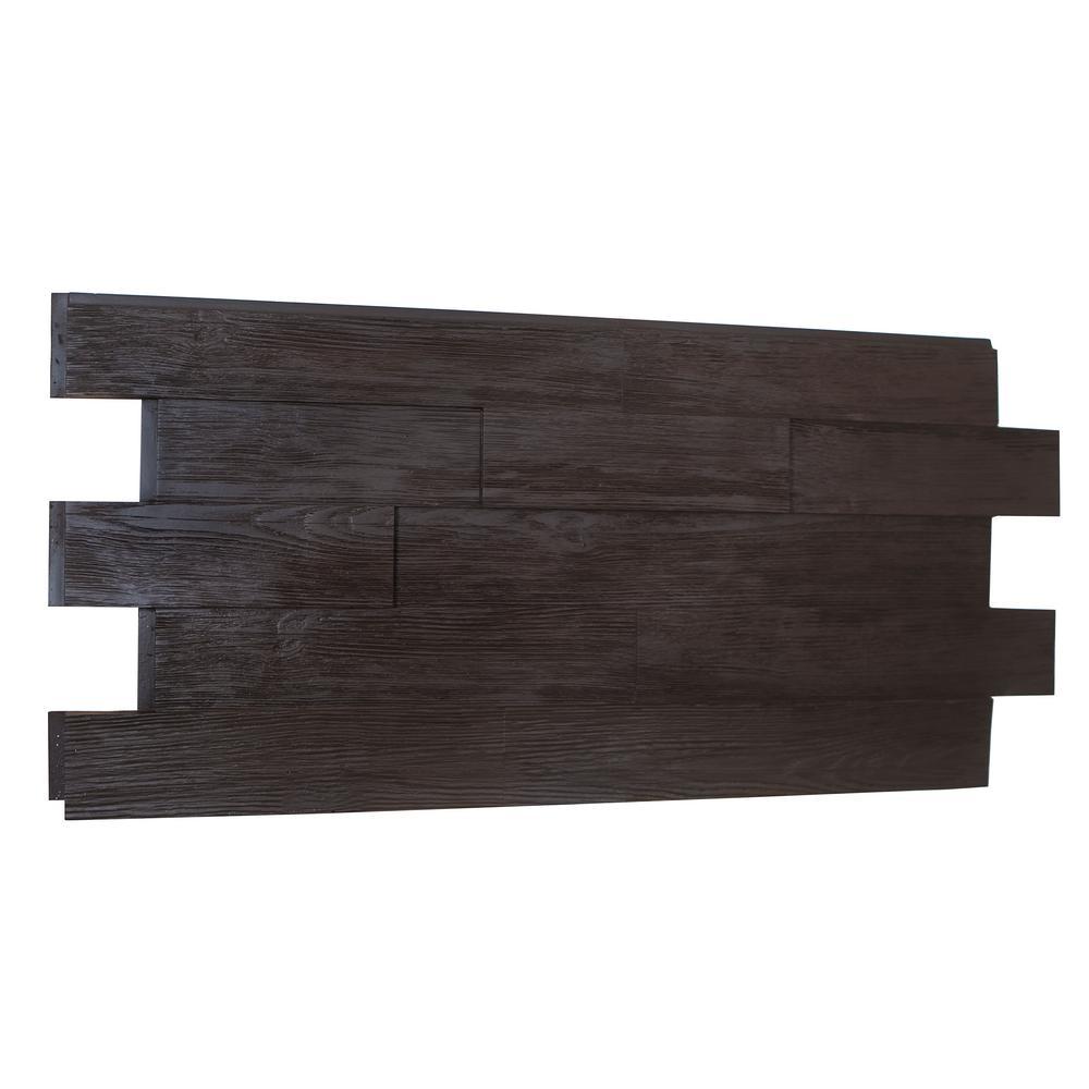 Raised Grain Faux Transitional Panel 1-1/4 in. x 48 in. x 23 in. Double Espresso Polyurethane Interlocking Panel