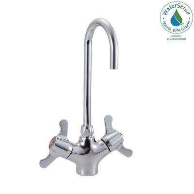 Commercial Single Hole 2-Handle Bathroom Faucet in Chrome