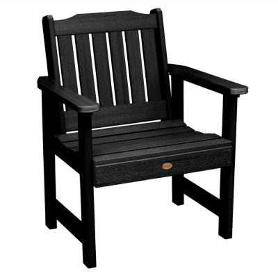 Lehigh Black Recycled Plastic Outdoor Lounge Chair