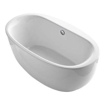 Sunstruck 5.5 ft. Acrylic Flatbottom Non-Whirlpool Bathtub in White