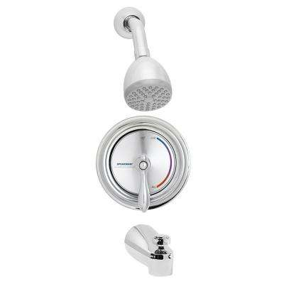 Sentinel Mark II 1-Handle Round 1-Spray Shower Faucet in Polished Chrome (Valve Included)