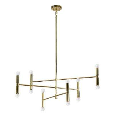 Axis 10-Light Gold Pendant