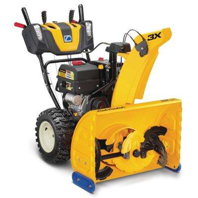 28 in. 357cc Three-Stage Electric Start Gas Snow Blower with Steel Chute, Power Steering and Heated Grips