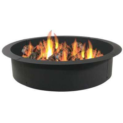 39 in. Dia x 45 in. H Round Steel Wood Burning Fire Pit Ring Liner
