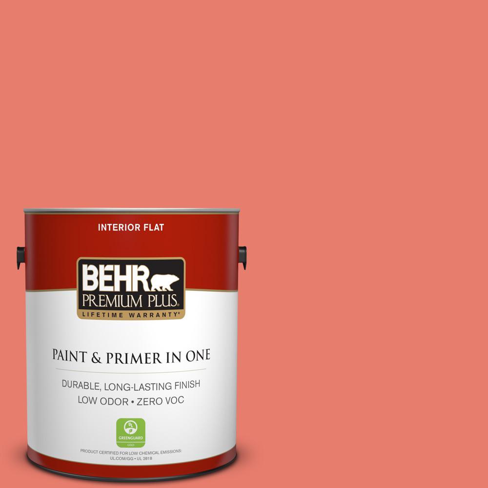 BEHR Premium Plus 1-gal. #HDC-SM14-12 Cosmic Coral Zero VOC Flat Interior Paint