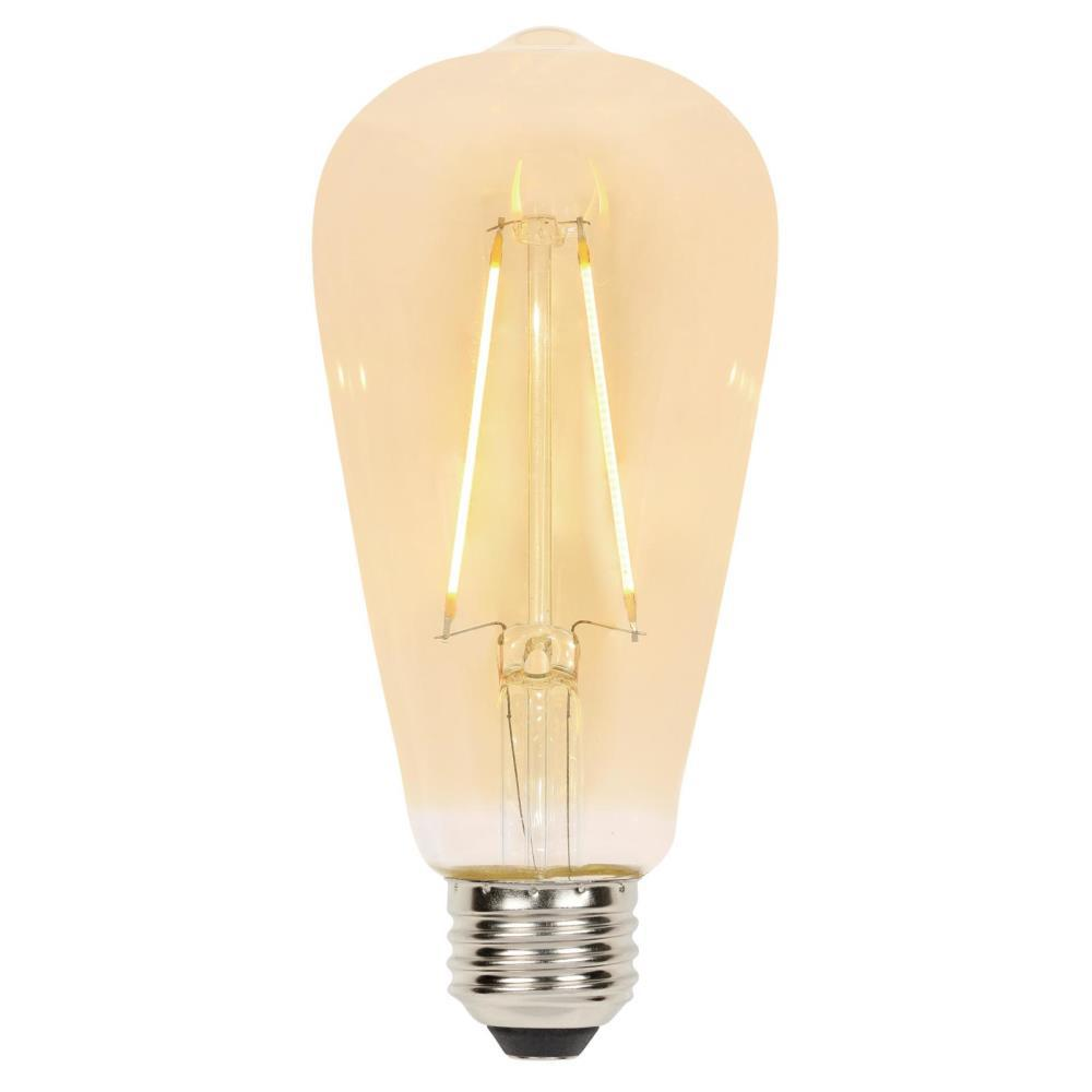 Westinghouse 40w Equivalent Amber St20 Dimmable Filament: Westinghouse 25-Watt Equivalent ST20 Dimmable Filament LED