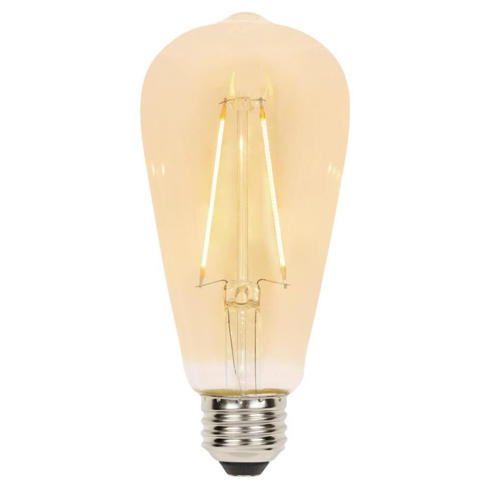 25-Watt Equivalent ST20 Dimmable Filament LED Light Bulb Warm Amber