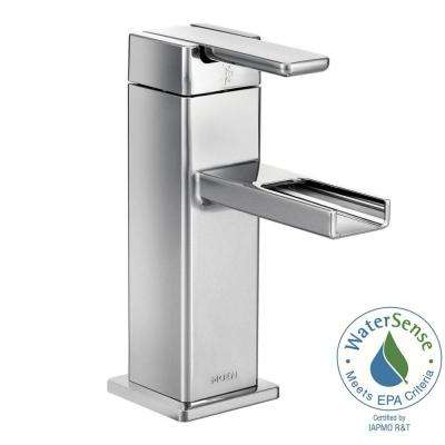 90-Degree Single Hole 1-Handle Mid-Arc Lavatory Faucet in Chrome