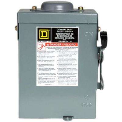 30 Amp 240-Volt 2-Pole Fused Outdoor General Duty Safety Switch
