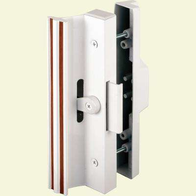 Surface Mounted Sliding Glass Door Handle with Clamp Type Latch, Diecast Outside Pull with Knock-Out Plug