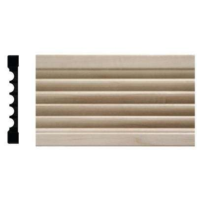 1644 1/2 in. x 4 in. x 84 in. White Hardwood Fluted Casing Moulding
