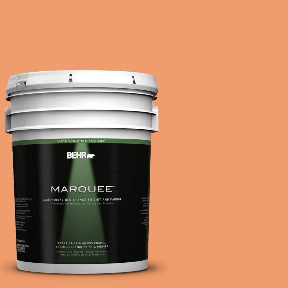 5-gal. #250D-5 Florida Mango Semi-Gloss Enamel Exterior Paint