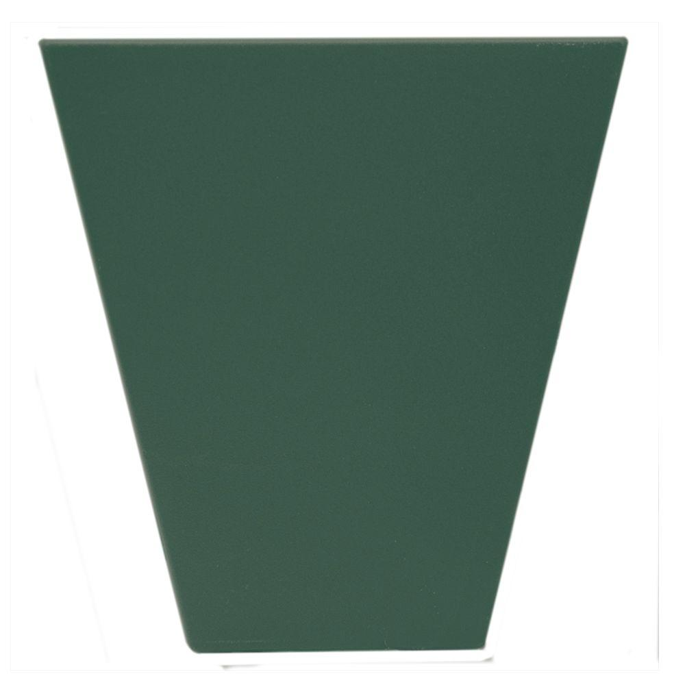 6 in. Flat Panel Window Header Keystone in 028 Forest Green
