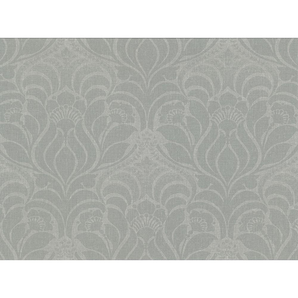 60.8 sq. ft. Sandor Sage Damask Wallpaper
