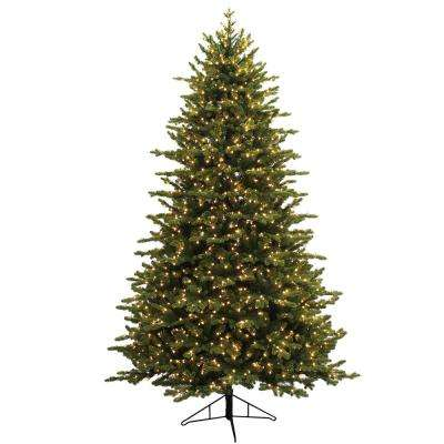 7.5 ft. Just Cut Canadian One Plug Artificial Christmas Tree with Warm White LED Star Lights