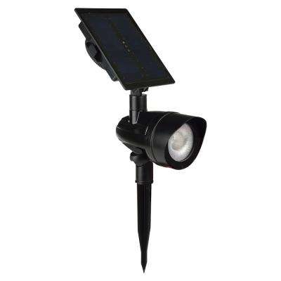 Solar Black Outdoor Integrated LED Landscape Spot Light