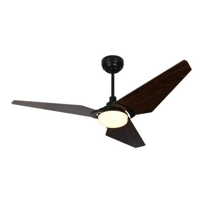 Trailblazer 56 in. Integrated LED Indoor Black Smart Ceiling Fan with Light Kit works with Google and Alexa