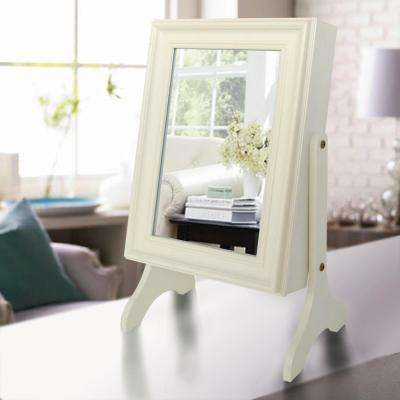 Charlotte Jewelry Armoire with Mirror in Ivory