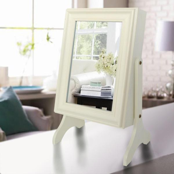 undefined Charlotte Jewelry Armoire with Mirror in Ivory