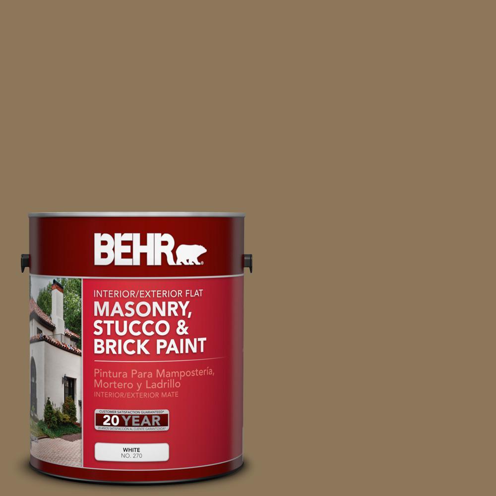 1 gal. #SC-153 Taupe Flat Interior/Exterior Masonry, Stucco and Brick Paint
