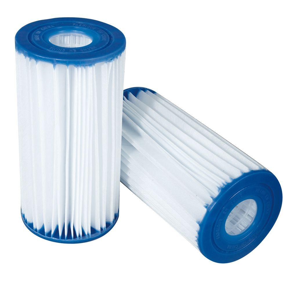 b6efd1e9357 Polygroup Type C 4.13 in. x 8 in. Replacement Pool Filter Cartridge ...