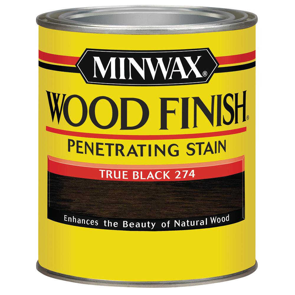 Wood Finish True Black Oil Based Interior Stain