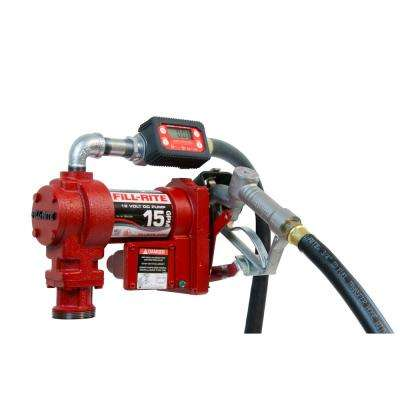 12-Volt 1/4 HP 15 GPM Fuel Transfer Pump with Meter Package (Digital)