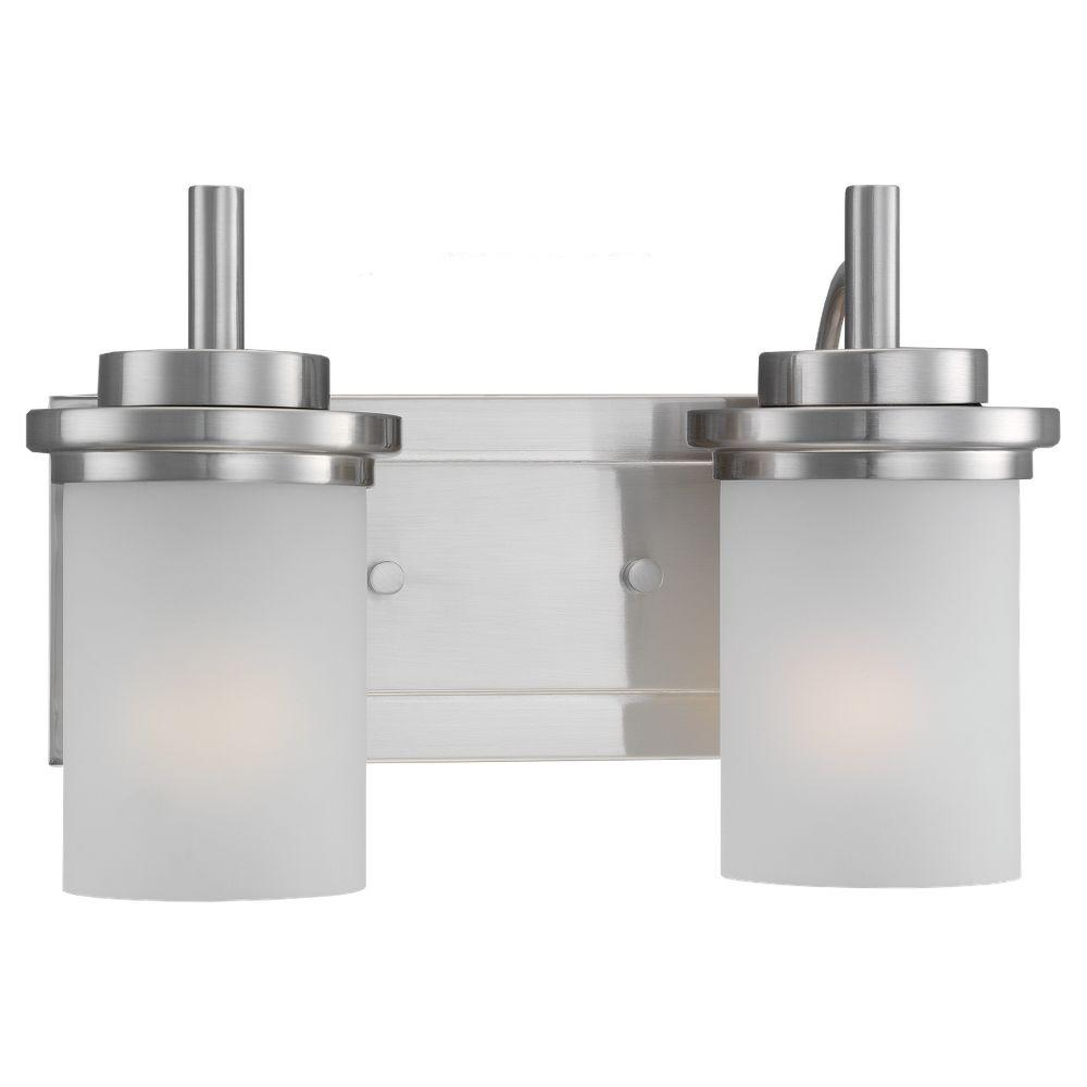 Sea Gull Lighting Winnetka 2-Light Brushed Nickel Vanity Light-44661 ...