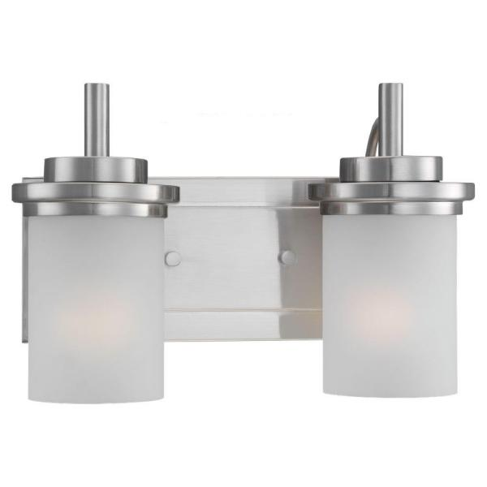 Winnetka 2-Light Brushed Nickel Vanity Light