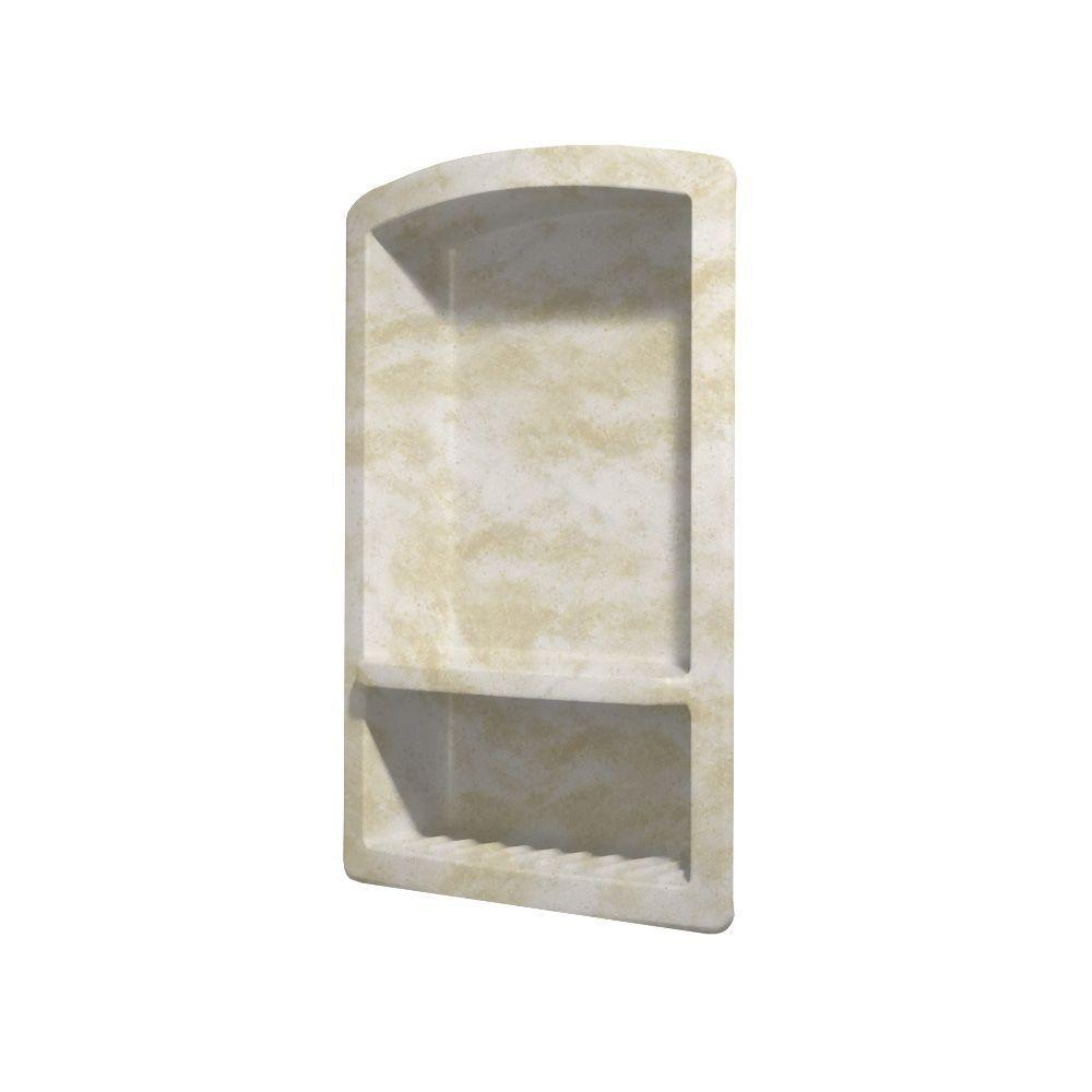 Swan Recessed Solid Surface Soap Dish in Cloud White