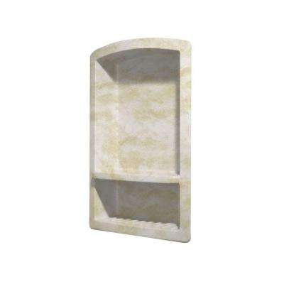 Recessed Solid Surface Soap Dish in Cloud White