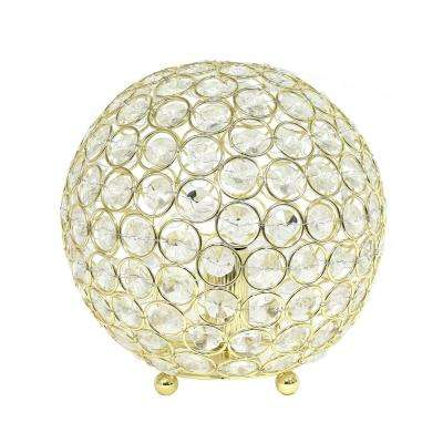 8 in. Gold Crystal Ball Sequin Table Lamp