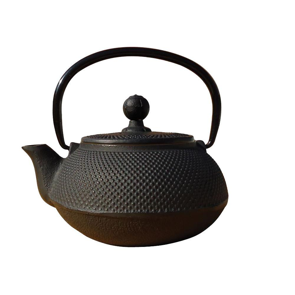 Old Dutch 20 oz. Cast Iron Sapporo Teapot in Matte Black