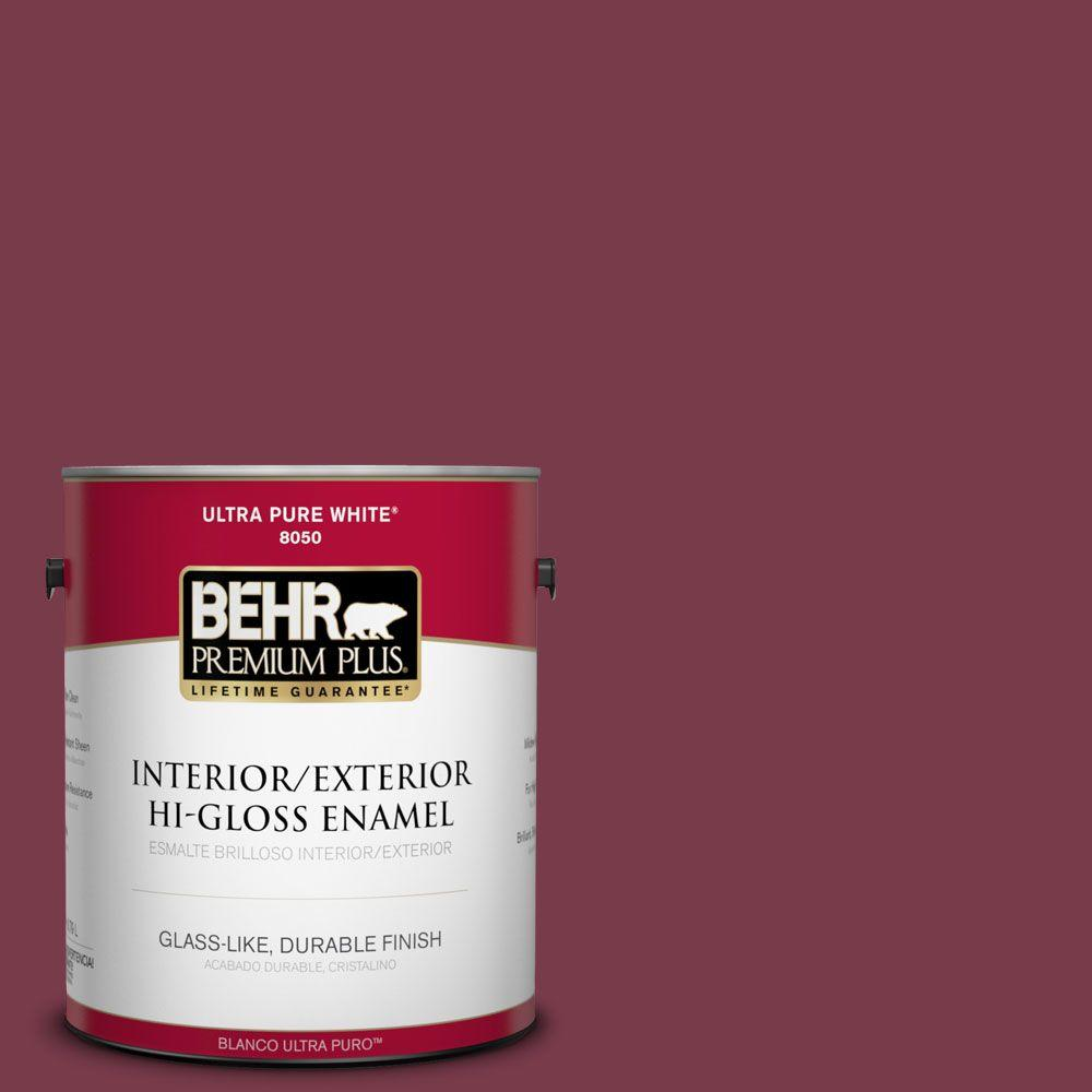 1-gal. #BIC-51 July Ruby Hi-Gloss Enamel Interior/Exterior Paint