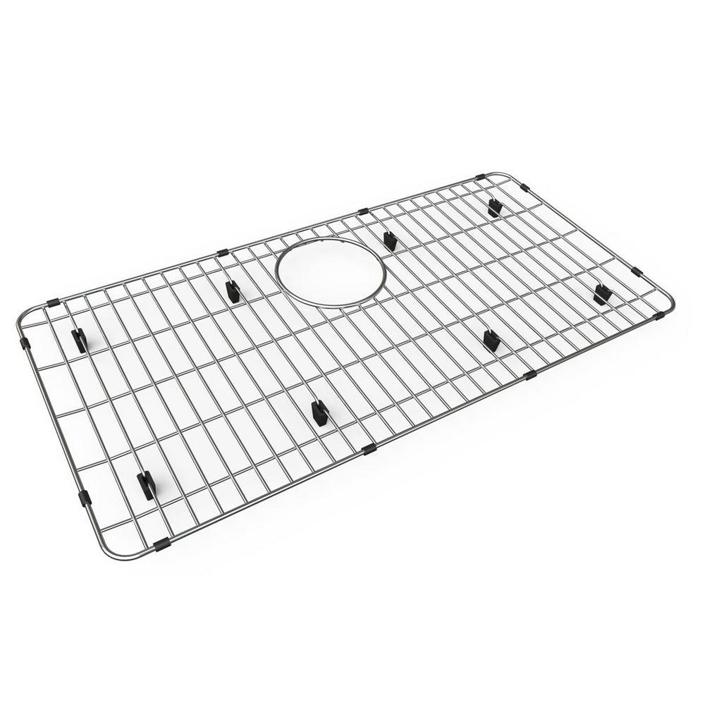 Quartz 27.5 in. x 13.5 in. Bottom Grid for Kitchen Sink in Stainless Steel