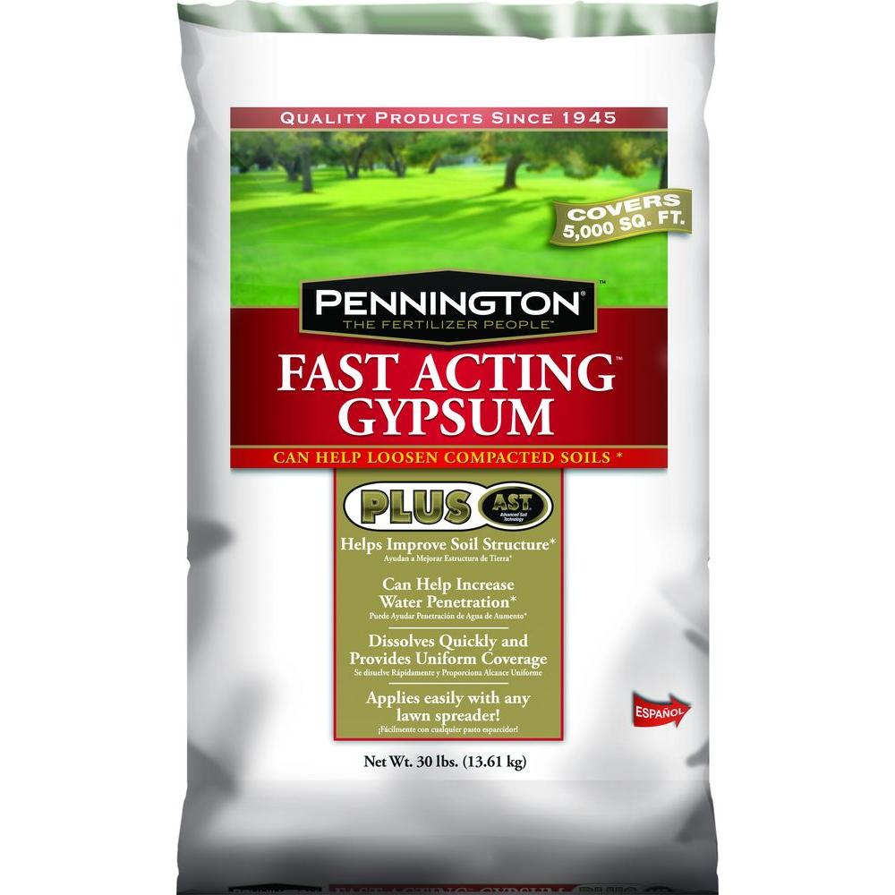 Pennington 30 lb. Fast Acting Gypsum Plus AST Dry Lawn Fertilizer
