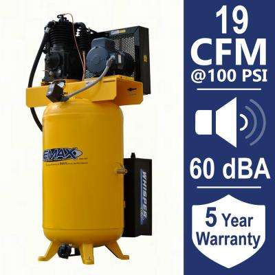 Industrial PLUS 80 Gal. 5 HP 3-Phase Silent Electric Air Compressor