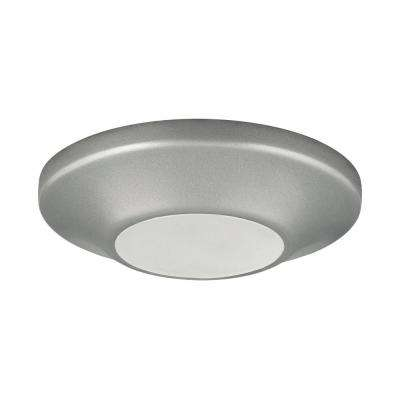 5.5 in. Flush Mount Collection 10.5 -Watt Metallic Gray Integrated LED Flush Mount