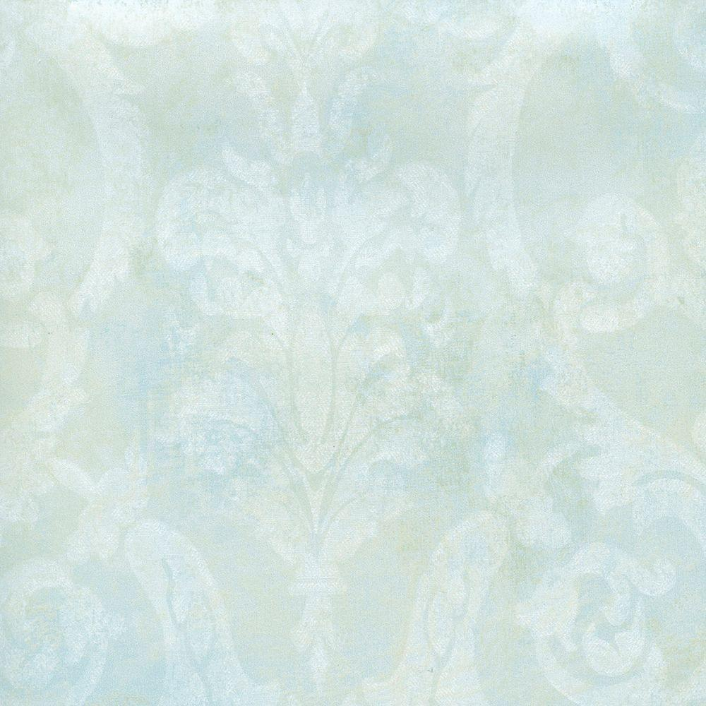 Chesapeake Penshurst Blue Tearose Damask Wallpaper